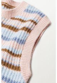 Różowy sweter mango casualowy, na co dzień