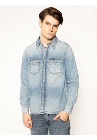 Niebieska koszula casual Calvin Klein Jeans