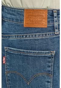 Niebieskie jeansy Levi's® biznesowe, na spotkanie biznesowe, z podwyższonym stanem