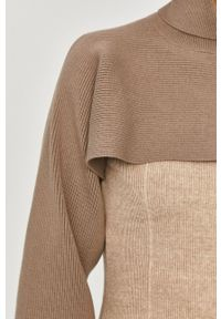 Answear Lab - Sweter. Typ kołnierza: golf. Kolor: beżowy. Materiał: dzianina. Długość rękawa: długi rękaw. Długość: długie. Wzór: ze splotem. Styl: wakacyjny
