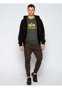 Alpha Industries T-Shirt Basic 100501 Szary Regular Fit. Kolor: szary