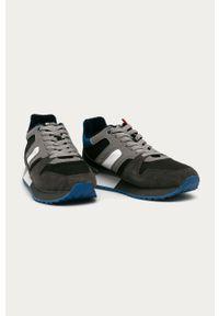 Szare sneakersy s.Oliver na sznurówki, z cholewką, z okrągłym noskiem