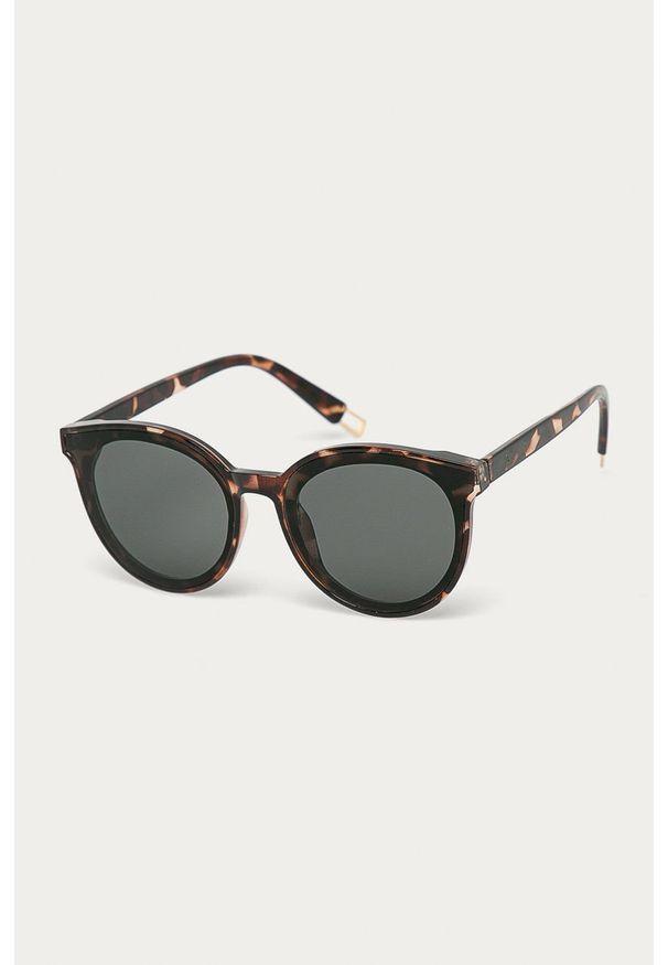Czarne okulary przeciwsłoneczne Answear Lab gładkie, owalne