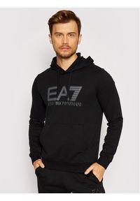 EA7 Emporio Armani Bluza 6KPM62 PJ05Z 1200 Czarny Regular Fit. Kolor: czarny