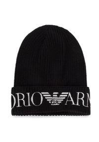 Czarna czapka zimowa Emporio Armani