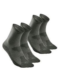 quechua - Skarpety turystyczne - NH100 długie - X 2 pary. Materiał: bawełna, poliamid, elastan, poliester. Sport: turystyka piesza