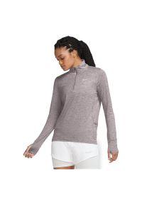 Bluza damska do biegania Nike Element CU3220. Materiał: skóra, materiał, poliester. Technologia: Dri-Fit (Nike)