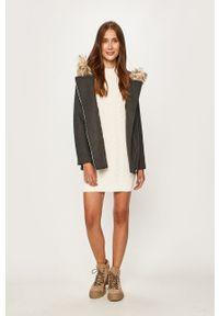 Szary płaszcz Vero Moda z kapturem