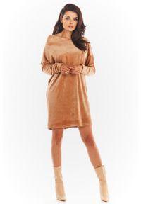 Beżowa sukienka Awama mini