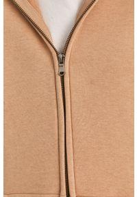 Beżowa bluza rozpinana Answear Lab z kapturem, wakacyjna, gładkie