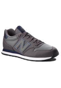 New Balance - Sneakersy NEW BALANCE - GM500DGN Szary. Okazja: na co dzień. Kolor: szary. Materiał: skóra, materiał. Szerokość cholewki: normalna. Styl: sportowy, casual