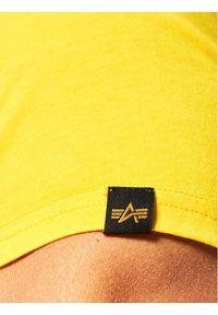 Alpha Industries T-Shirt Basic T Small Logo 188505 Żółty Regular Fit. Kolor: żółty #2