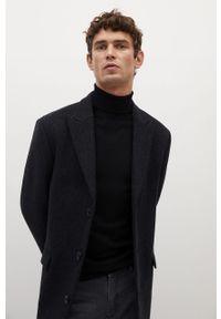 Czarny sweter Mango Man z długim rękawem, casualowy, na co dzień, długi #8