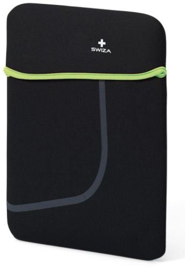 """Etui Swiza Moranda 15"""" Czarno-zielony. Kolor: czarny, wielokolorowy, zielony"""