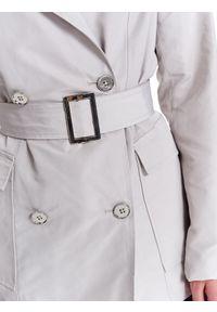 Kremowy płaszcz TOP SECRET na wiosnę, do pracy, w kolorowe wzory, krótki #8