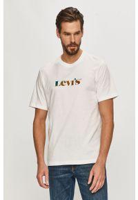 Biały t-shirt Levi's® na co dzień, biznesowy