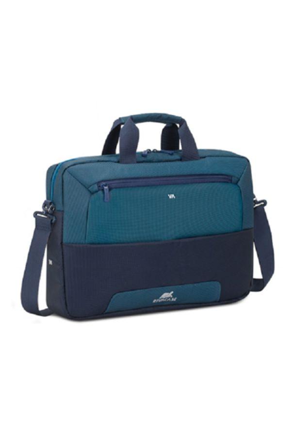 Niebieska torba na laptopa RIVACASE elegancka