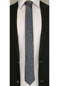 Szary Elegancki Krawat w Fioletowe Kwiaty -Angelo di Monti- 6 cm, Męski, Motyw Florystyczny. Kolor: szary, wielokolorowy, fioletowy. Wzór: kwiaty. Styl: elegancki
