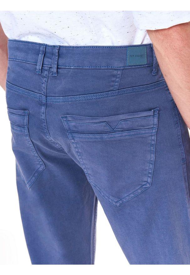 Niebieskie spodnie TOP SECRET do pracy, na jesień, casualowe