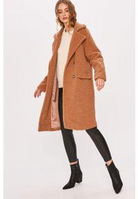 Brązowy płaszcz ANSWEAR bez kaptura, wakacyjny #7