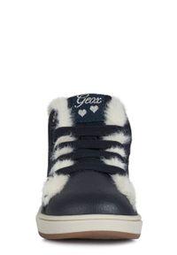 Niebieskie buty zimowe Geox z cholewką, na zimę