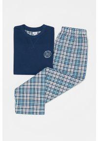 Niebieska piżama OVS gładkie