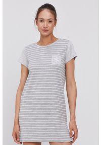 Lauren Ralph Lauren - Koszula nocna. Kolor: szary. Materiał: dzianina. Długość: krótkie