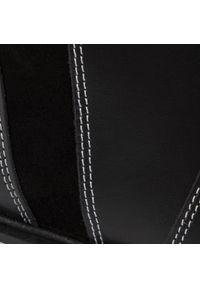 RenBut - Kozaki RENBUT - 32-4363 Czarny. Okazja: na spacer. Wysokość cholewki: za kostkę. Kolor: czarny. Materiał: skóra, zamsz. Wzór: aplikacja. Sezon: zima, jesień