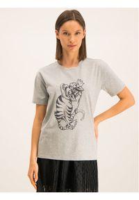 Emporio Armani T-Shirt 6G2T6E 2JQAZ 0616 Szary Regular Fit. Kolor: szary