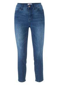 Miękkie dżinsy ze stretchem 7/8 SKINNY bonprix niebieski. Kolor: niebieski