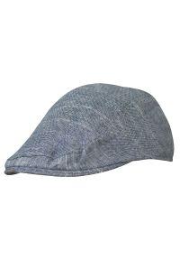 Szara czapka EM Men's Accessories melanż, na lato