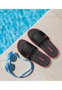 LANO - Klapki męskie basenowe Lano KL-4-6168-5 Czarne. Okazja: na plażę. Zapięcie: bez zapięcia. Kolor: czarny. Materiał: guma. Obcas: na obcasie. Wysokość obcasa: niski. Sport: pływanie