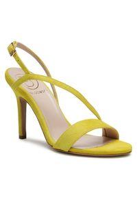 Żółte sandały Baldowski