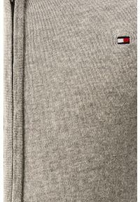Szary sweter rozpinany TOMMY HILFIGER na co dzień, casualowy
