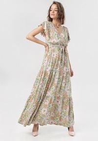 Born2be - Biała Sukienka Danarila. Kolor: biały