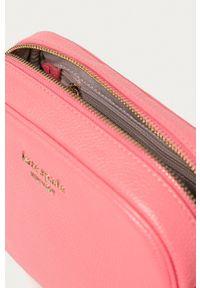 Kate Spade - Torebka skórzana. Kolor: różowy. Materiał: skórzane. Rodzaj torebki: na ramię