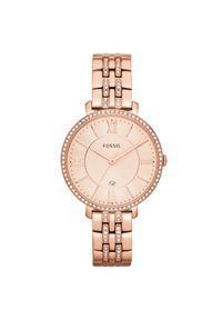 Różowy zegarek Fossil biznesowy