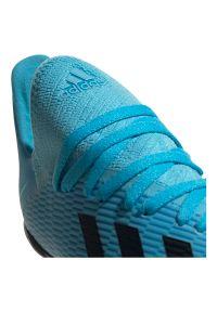 Adidas - Buty dla dzieci do piłki nożnej adidas X 19.3 TF F35357. Materiał: materiał, syntetyk, guma. Szerokość cholewki: normalna. Sport: piłka nożna