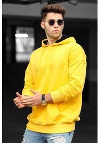 IVET - Bluza męska SEBASTIAN YELLOW. Okazja: na co dzień. Typ kołnierza: kaptur. Kolor: żółty. Materiał: materiał. Styl: casual