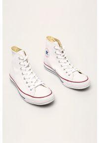 Białe wysokie trampki Converse z cholewką, z okrągłym noskiem
