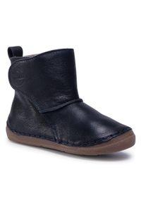 Niebieskie buty zimowe Froddo z cholewką, z cholewką za kostkę