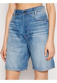 G-Star RAW - G-Star Raw Szorty jeansowe Staq D19584-C665-C279 Niebieski Boyfriend Fit. Kolor: niebieski. Materiał: jeans