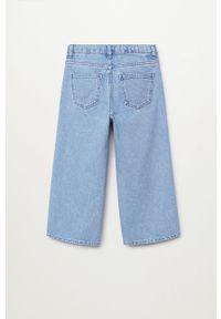 Niebieskie jeansy Mango Kids z haftami