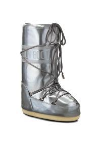 Srebrne śniegowce Moon Boot na zimę