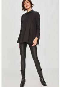 Czarne legginsy Answear Lab z podwyższonym stanem, wakacyjne