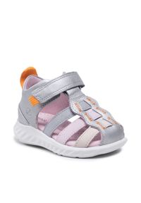 ecco - Sandały ECCO - Sp. 1 Lite Infant Sandal 72512151929 Multicolor Concrete. Zapięcie: pasek. Kolor: srebrny. Materiał: skóra. Wzór: paski. Sezon: lato. Styl: młodzieżowy
