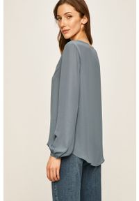 Niebieska koszula Vila na co dzień, długa, elegancka