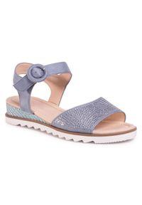 Niebieskie sandały Clara Barson casualowe, z aplikacjami, na co dzień