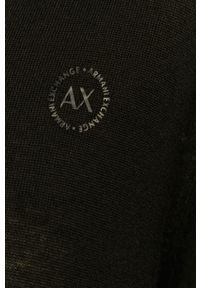 Czarny sweter Armani Exchange długi, casualowy, na co dzień
