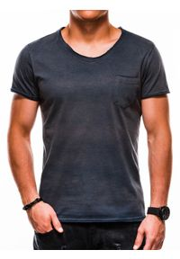 Niebieski t-shirt Ombre Clothing